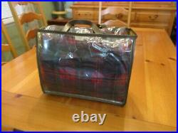 Vintage Pendleton Wool Red Plaid Blanket Robe in a Bag with Case 54 x 68 EUC