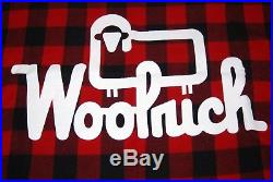 Vintage Woolrich Buffalo Plaid with Logo Sign Wool Blanket New
