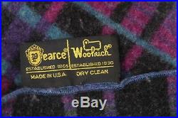Vintage Woolrich Pearce multi color Wool Throw Blanket Made in the USA