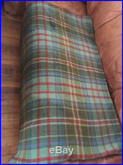 Vintage polo ralph lauren Wool Blanket 90x70Geen Plaid Made In USA