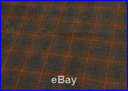 Vtg Wool Plaid Woolrich Pendleton Thick Blanket Quilt Spread Throw Fabric 61x55