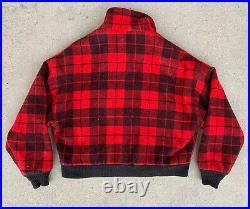 Vtg Woolrich Jacket Heavy Wool Coat Sz Large USA Union Made Coat Hunter Quilted