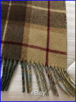 Wool Blanket Double Sided Plaid With Fringe Heavy Glen Lossie-Style Vintage