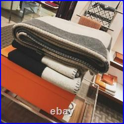 Wool Blanket Knitted Soft Sofa Bed Portable Wearable Throw Adults Thread Plaid